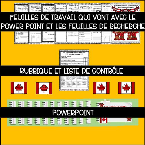 Un projet: Une recherche d'une communauté canadienne