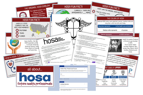 ALL ABOUT HOSA- Presentation, Online Scavenger Hunt and Activity!