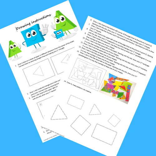 Dot Day Math & Art Geometry Project for Grades 1-8 Triangles and Quadrilaterals