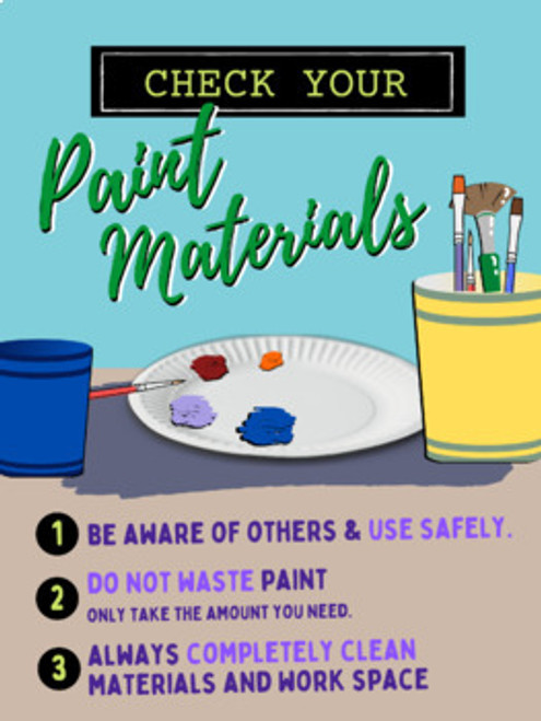 POSTERS: Material Safety Use & Clean Up Reminders (Bundle)