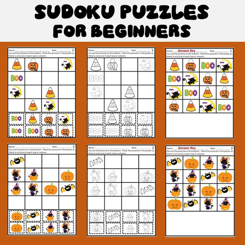 Halloween Sudoku Puzzles for Beginners