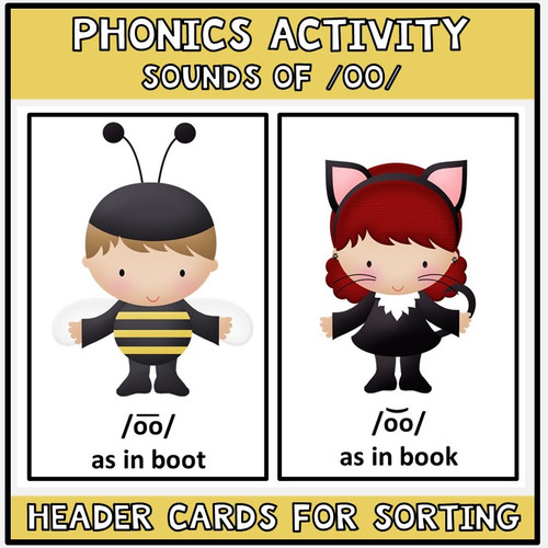 Halloween Literacy Center Sounds of /OO/
