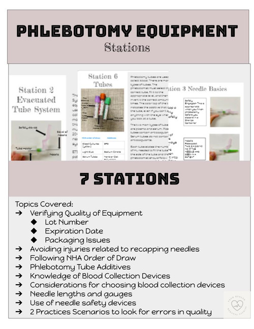 Phlebotomy Equipment Stations