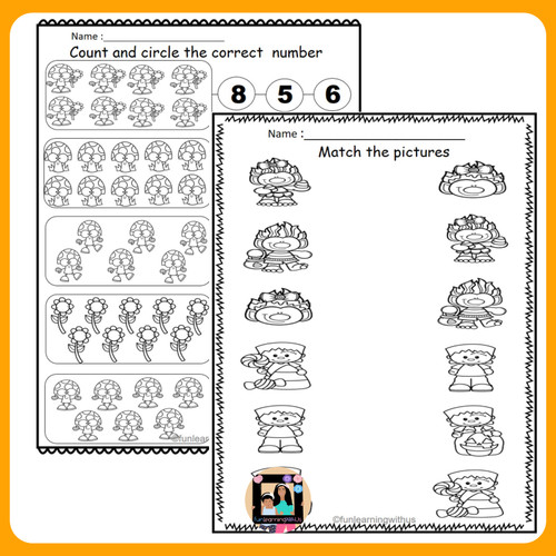 Fall Learning Activities Pack for Preschool & Pre-K| Autumn Season worksheets