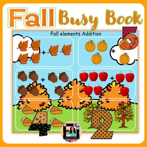 Fall Busy Book for Preschool &Kindergarten|Seasonal Busy Binder-Autumn Learning