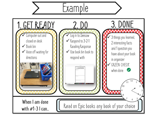 Get Ready Do Done Executive Functioning Organizers