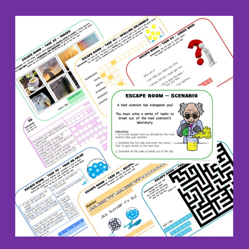 States of Matter Digital ESCAPE ROOM for years 6, 7, 8