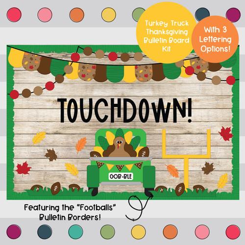 Touchdown Turkey - Thanksgiving - November Bulletin Board Kit