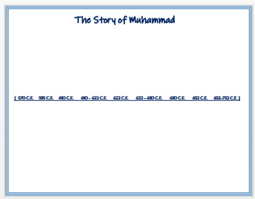 The Story of Muhammad - Timeline Activity/Assessment