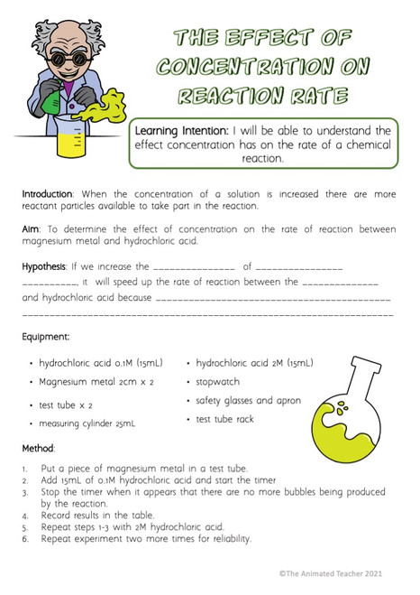 Rate of Chemical Reaction Experiments