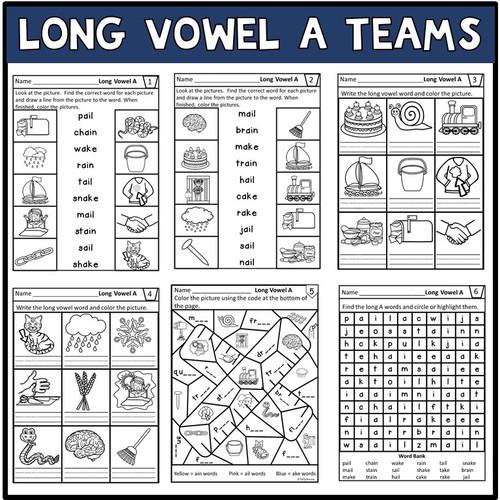 Long Vowels Vowel Team 27 Worksheets