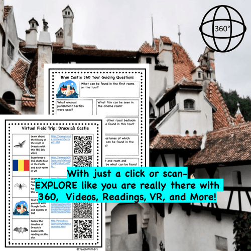 Dracula's Castle Virtual Field Trip for Middle and High School