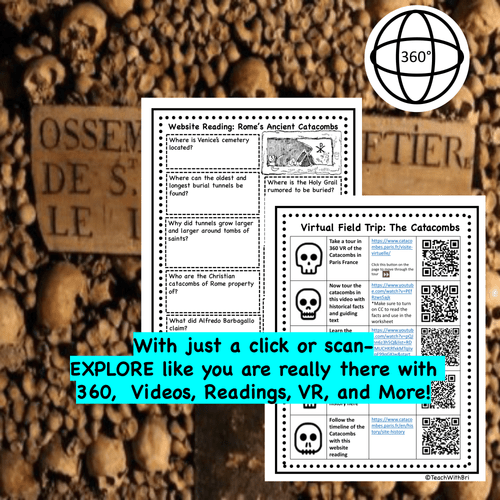 Catacombs Virtual Field Trip for Middle and High School