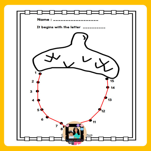 Fall Connect the dots | Dot to Dot worksheets | Counting 1-30
