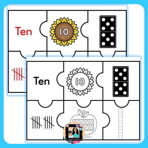 Subitizing Number Sense Math Puzzles (1-20) | Kindergarten Number Recognition
