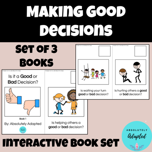 Making Good Decisions Interactive Book to Teach School Rules