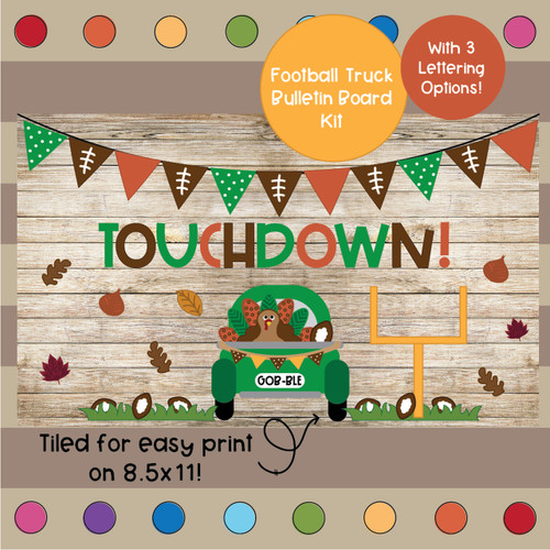 BUNDLE Thanksgiving Themed Bulletin Board Kits
