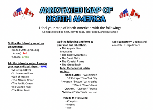 North America Annotated Map