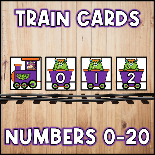 Halloween Number Train | Number Cards 0 to 20