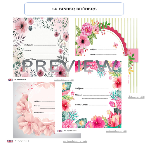 Summer-themed Stationery | Labels and binder dividers |