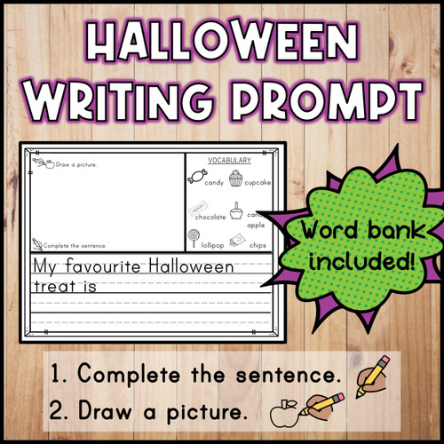 Halloween Writing Prompt FREEBIE | French Version Included!