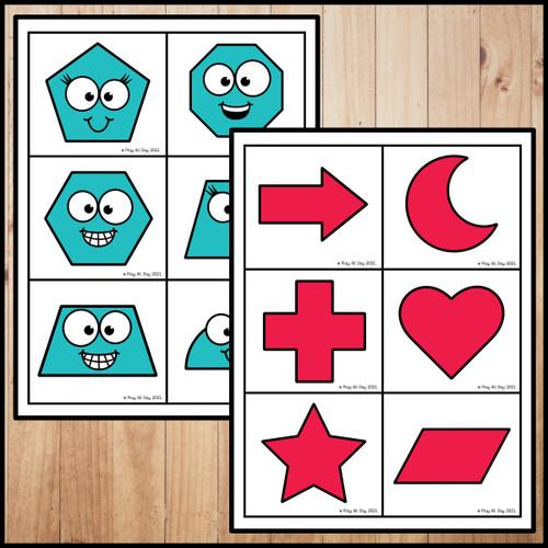 2D Shapes Hide & Seek | pocket Chart Game | 2D Shapes Recognition