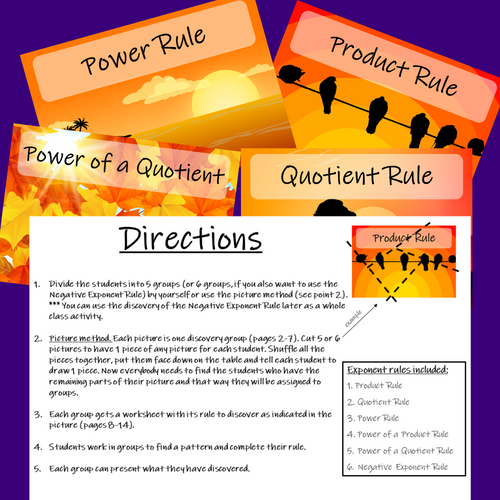 Discovering Exponent Rules - Laws of Exponents Inquiry Based Learning Project