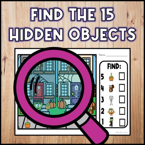 Halloween Hidden Objects   Visual Perception Activities   Print and Digital