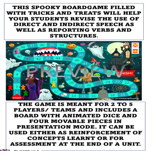ELA Halloween game | Direct and indirect speech |