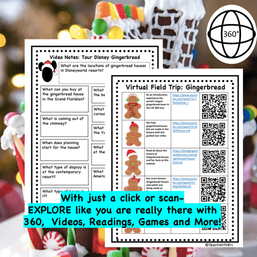 Free Gingerbread Virtual Field Trip History and Factory Tour