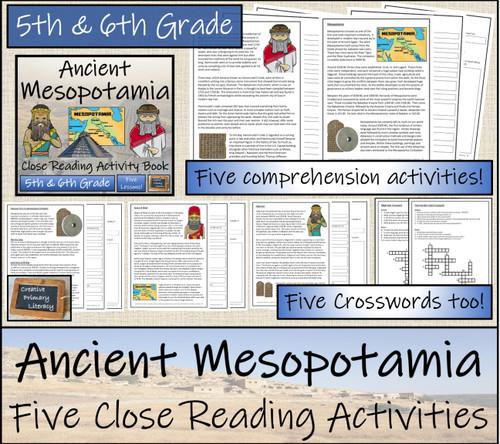 Ancient Mesopotamia Close Reading Book   5th Grade & 6th Grade
