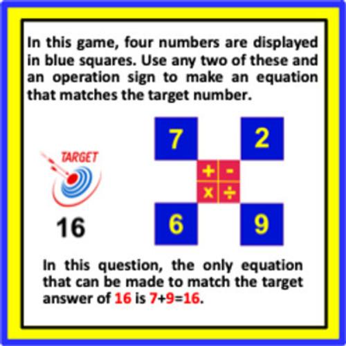 Mental Math Games: Grade 3 and 4 (Set 1)