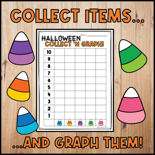 Halloween Graphing | Collect and Graph Board Game | French Version Included!