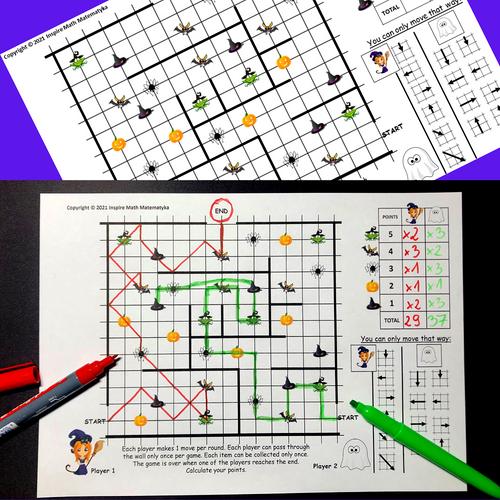 FREE Halloween Math Game Haunted House | Logic Game Brain Teasers Logic Puzzles