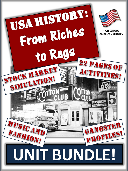 """America in the 1920s and 1930s - """"A Time of Great Change"""" - 70+ Pages/Slides!"""