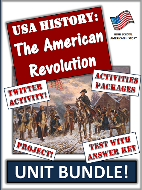 American Revolution Bundle: 65+ Page/Slides of Activities and Resources!