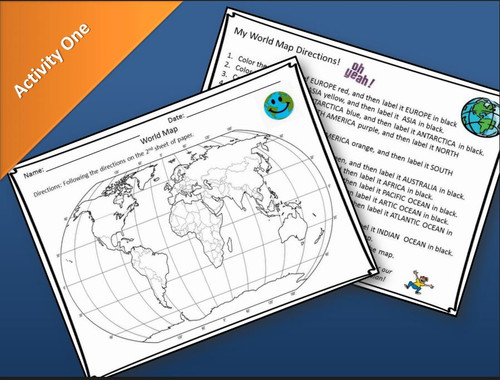 World Map Activities and Quiz