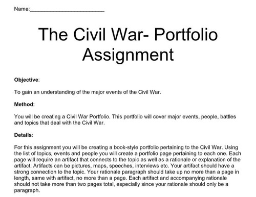 Civil War Portfolio