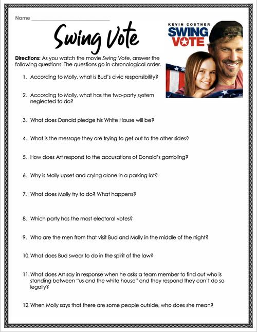 Swing Vote Movie Guide