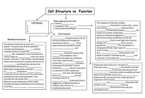 Concept Madness: Cell Structure/Function & Cell Membrane/Transport