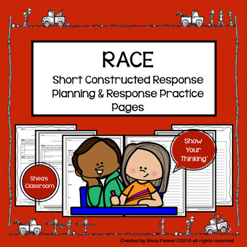 RACE Strategy Constructed Response Writing Practice Planning & Response Pages