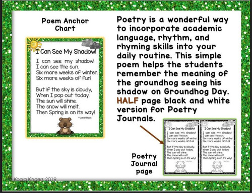 I Can See My Shadow-Pocket Chart Poems