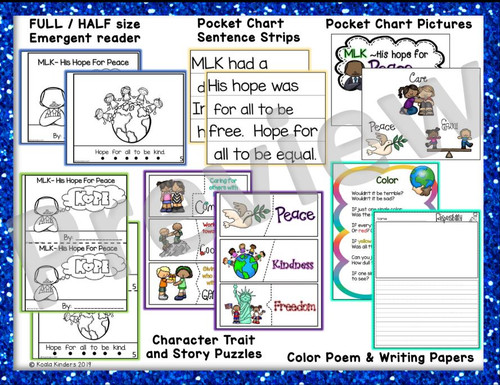 MLK Pocket Chart Activity and Printable Readers