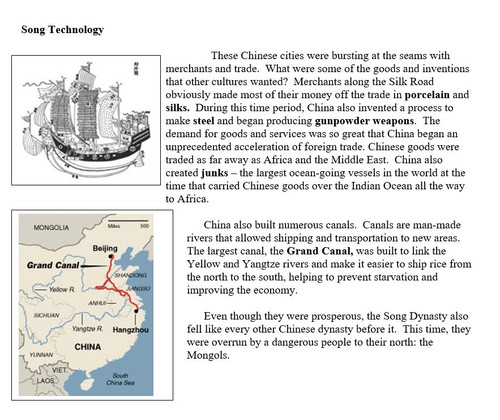 The Tang and Song Dynasties Travel Brochure Activity