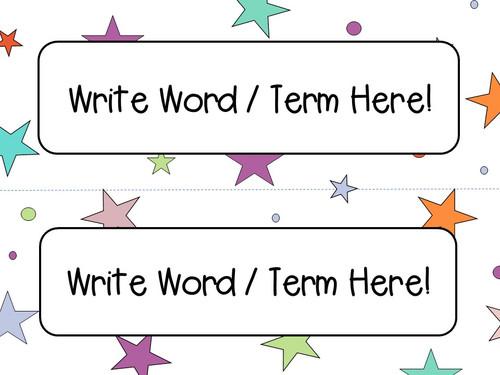 Stars and Dots Classroom Decor Templates - FREE