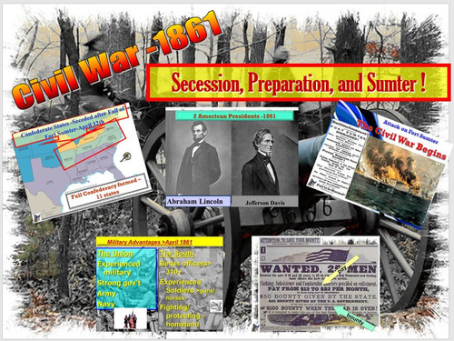 Civil War - Secession, Preparation and Sumter