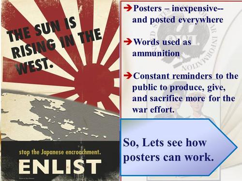 World War II: Poster Propaganda on  the Homefront