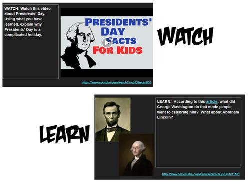 Presidents' Day Hyperdoc: Interactive Webquest
