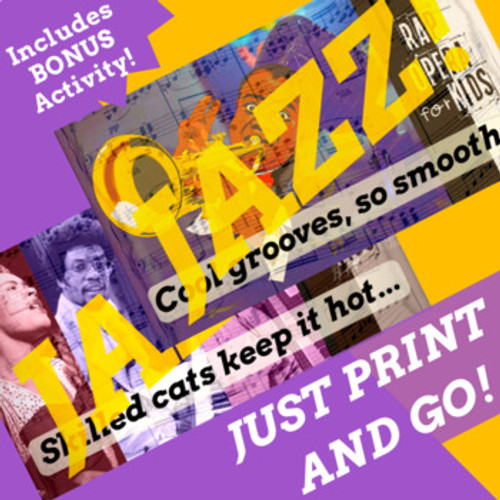 Jazz Musicians and Jazz Music History Reading Passage Activities with Rap Songs