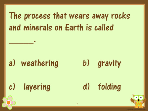 Fifth Grade Earth Science Review and Test Prep